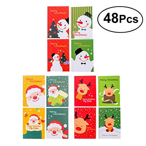 Stobok 48pz mini natale bloc notes tascabile computer per bambini e adulti regali di natale bomboniere
