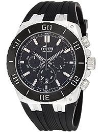 Lotus 15801 2 - Reloj cronógrafo de cuarzo para hombre con correa de caucho 6a7e870a993d