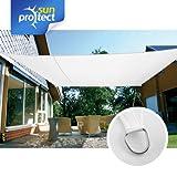 sunprotect SPT83237 sunprotect Sonnensegel professional, 6 x 4 m, Rechteck, weiß (1 Stück)