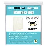 HOMEIDEAS Matratzen-Tasche für Bewegen und Aufbewahrung, extra dick, für Doppelbetten/volle Größen, 2 Stück