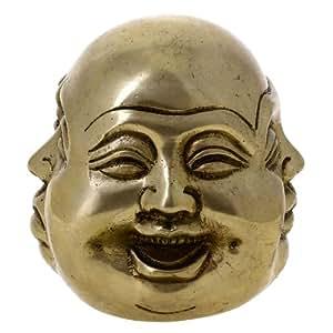 Buddhismus Dekor Lachend L Chelnd Buddha Statue Messing