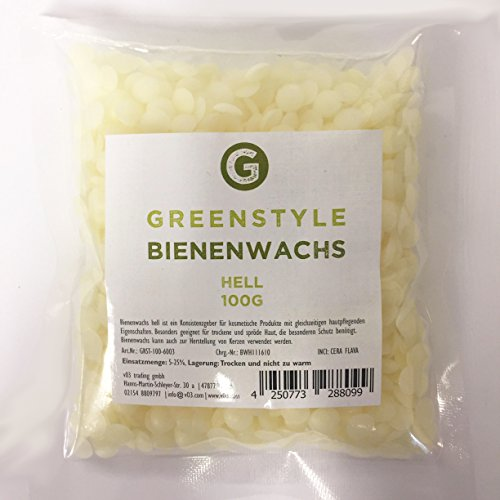 Bienenwachs hell - 100g - von greenstyle