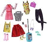 Barbie- Set Collezione con 5 Look Completi con Vestitini e Accessori, FLB31