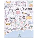 """Lovely Streets WOA02965 - Libreta, diseño """"Mapa de Barcelona"""", multicolor"""