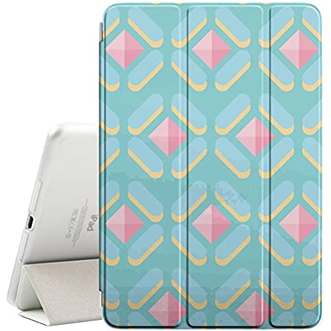 YOYOcovers [ FOR Apple iPad Mini 2 / 3 / 4 ] Smart Cover Automático Arriba / SueñoYOYOcovers [ FOR Apple iPad Mini 2 / 3 / 4 ] Smart Cover Automático Arriba / Sueño - Polygon Cute Pattern Gem Pink