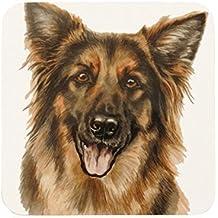 4 x WAGGY DOGZ PASTORE TEDESCO alsaziano Cucciolo di cane prodotto in Inghilterra Regalo Presente qualità sottobicchieri