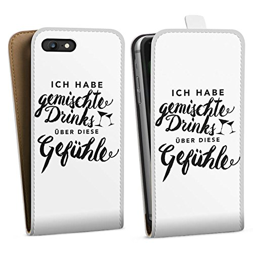 Apple iPhone X Silikon Hülle Case Schutzhülle Drinks Gefühle Sprüche Downflip Tasche weiß
