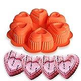 FantasyDay® 1er Silikon Backform / Muffinform für Muffins, Cupcakes, Kuchen, Pudding, Eiswürfel und Gelee - Herz