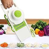 Mandoline Schneide, jtdeal 5 in 1 Multifunktional Gemüseschneider Zerkleinerer & gemüsehobel Kitchen Set für Gemüse und Obst aus Edelstahl und ABS Kunststoff -