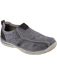 Zapatos para hombre, color marr�n , marca SKECHERS, modelo Zapatos Para Hombre SKECHERS ELECTED DRIGO Marr�n
