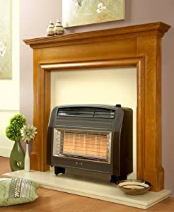 Flavel FORSB0EN Brown Strata Natural Gas High Efficiency Wall / Hearth