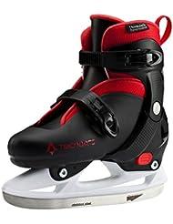 Patines de hielo Leo Jr–Blanco/Azul/Negro, blanco / rojo, 29-32