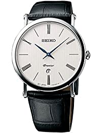 Seiko Herren-Armbanduhr Analog Quarz Leder SKP395P1