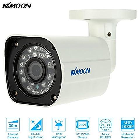 KKMOON 1080p AHD 2.0mp Caméra Bullet CCTV Analogique Sécurité Extérieure