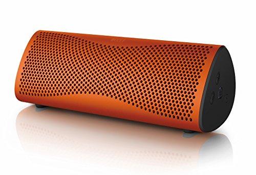 KEF MUO - Meilleures enceinte portable bluetooth - Orange Sunset, Enceinte portable, Enceinte extérieur, Meilleure enceinte Bluetooth pour PC et ordinateur portable avec batterie longue durée