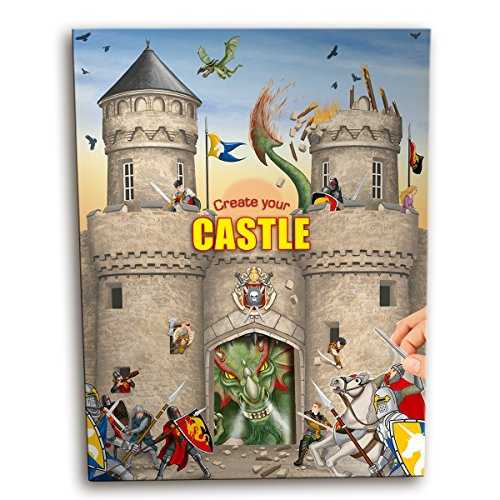 Trend 6518 - Create your Castle, Malbuch mit Stickern