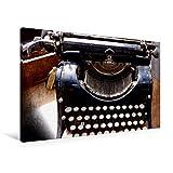 Calvendo Premium Textil-Leinwand 90 cm x 60 cm Quer, Alte Schreibmaschine | Wandbild, Bild auf Keilrahmen, Fertigbild auf Echter Leinwand, Leinwanddruck Bild Alter Bürotechnik Hobbys Hobbys