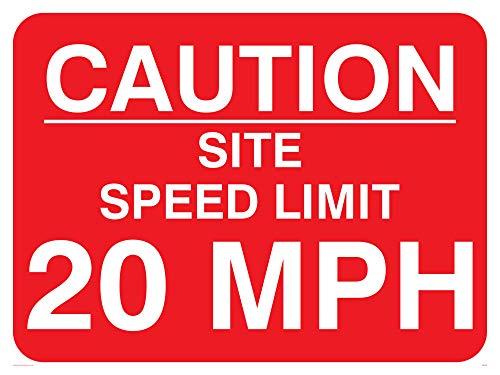 Viking Zeichen pr560-a1l-ac Caution Webseite Speed Limit 20MPH Schild aus Aluminium, Composite, 600mm H x 800mm W -