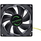 Anima AF8 - Ventola per Computer, (8 cm, 7 Pale, 1800 rpm, 0,12 A, 1,44 W, Ecologica e Silenziosa, 50.000 ore di Funzionamento), Colore Nero