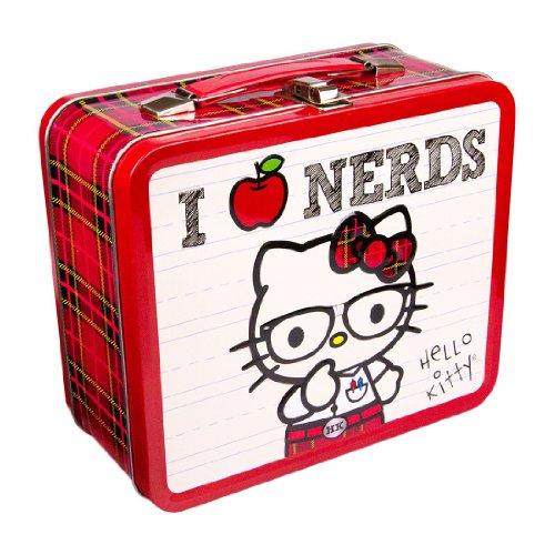 Hello Kitty Lunch Box I LOVE (Kitty Hello Nerd)