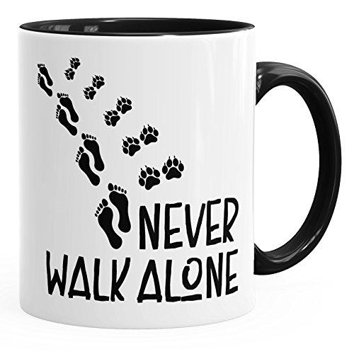 MoonWorks Tasse Kaffeetasse Teetasse Keramiktasse schwarz Unisize