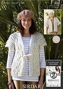 Sirdar Pelote de grosse laine pour femmes 9604 Gilet en tricot
