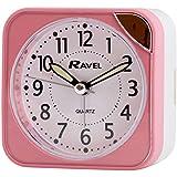 RAVEL SQUARE PINK BEEP ALARM CLOCK WITH LIGHT RC001.05