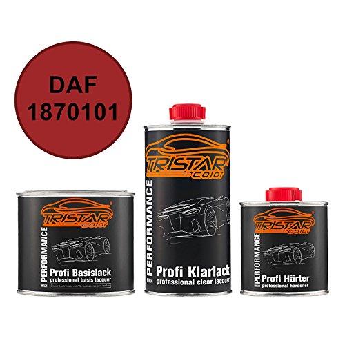 TRISTARcolor Autolack Set Dose spritzfertig DAF 1870101 Braunrot RAL 3011 Basislack + 2K Klarlack 1,25L