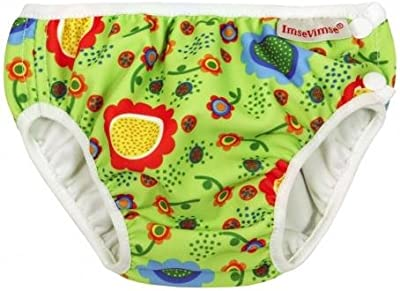 La consulta ImseVimse pañales pañal para natación Bañador para niño de poner agua para jugar en verde diseño de flores