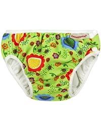 Imsevimse, pañal Bañador, badewindel, aquawindel, Modelo Green Flower–Bañador para bebé, Verde
