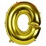 #6: Golden Foil balloon Alphabet O {18 Inch}for Birthday Decoration,Baby Shower,Wedding,Festival,Party