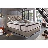 Sofa Dreams Modernes Boxspringbett Plaza mit Premium Matratze 180x200 - Auch Andere Größen verfügbar