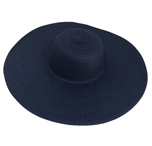 Bigood Chapeau de Plage Femme Large Bord Soleil Voyage Mode