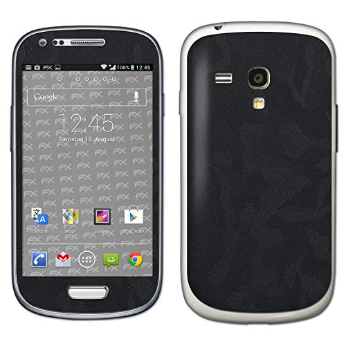 bel mit Samsung Galaxy S3 Mini GT-i8190, Designfolie Sticker (FX-Camouflage-Black), Tarn-Muster/Militär-Muster gefleckt ()