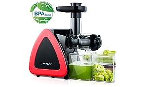 Licuadora Prensado Frio, Licuadora Frutas Verduras Total con Boca Ancha de 75MM, Slow Juicer Motor Silencioso y Alto Preservación en Nutrientes Licuadoras para Verduras y Frutas