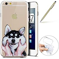 "Herbests Handy Tasche für iPhone 7 / iPhone 8 4.7"" Silikon Hülle Durchsichtige Schutzhülle Crystal Clear Transparent Ultra Dünn Handyhülle Silikonhülle Kristall Klar TPU Bumper,Hund"