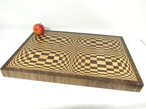 Hirnholz Schneidbrett '3D' 61 x 43 x 4,5 cm