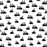 Fabulous Fabrics Mono Ballett Schwäne GOTS - Weiss|