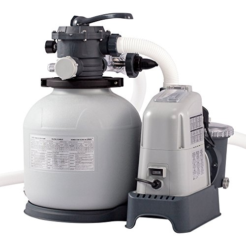 Intex Krystal Clear Sand Filter Pump and Saltwater System - Sandfilteranlage & Salzwassersystem - 220-240V - Bis zu 32,200L Pool