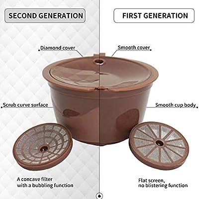 LASISZ Capsule en Plastique Recyclable de Capsule de café de Nescafe réutilisable Rechargeable Compatible avec des Accessoires de préparation de café de Recharge de Nescafe