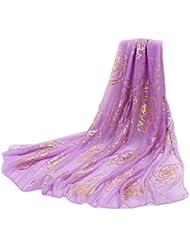 Tquito de las mujeres del resorte del oto?o de la manera grande y suave bufanda larga monocrom¨¢tica bufandas