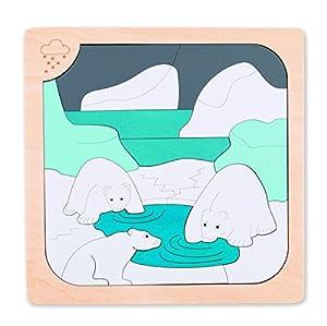 Hape- Puzzle encajable Infantil Capas Invierno-Verano (Barrutoys E6519)
