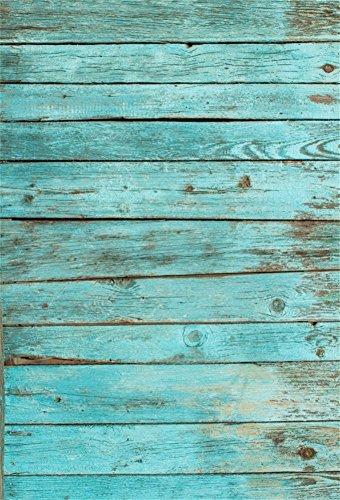 YongFoto 1x1,5m Vinyl Foto Hintergrund Holzoptic Blau Holz Weinlese Hölzernes Holz Brett Der Farbe Fotografie Hintergrund für Photo Booth Baby Party Banner Kinder Fotostudio Requisiten