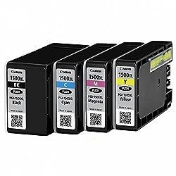 Canon Pgi1500xl Pack 4Original Druckerpatronen Kompatibel Mit Drucker Mb2050Schwarzcyanmagentagelb