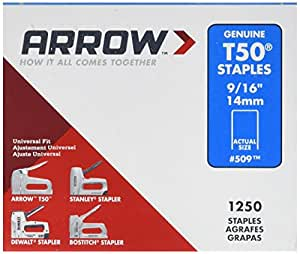 Arrow T50 Staples Box 1250 14mm - 9/16in ARRT50916S