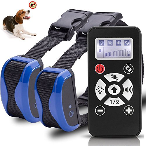 [Bestseller] Jiuhuazi Dog Trainer 800 Meter Remote Dog Training Halsband wasserdicht Auto Anti bellen Kragen wiederaufladbare PET-Trainer Halsband mit Warnungen, Vibration, Signal Lights Funktion-Safe und Grausamkeit-frei für die Ausbildung ihrer - Remote-bark Hund Collar