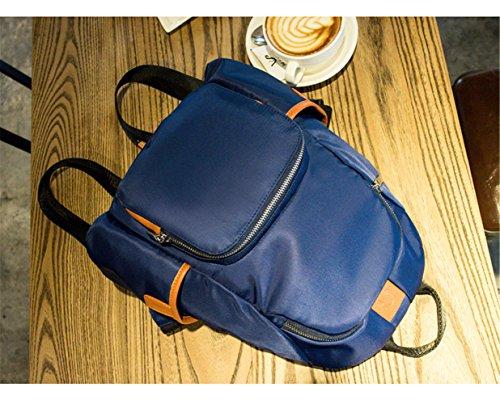 RFVBNM Frauen Rucksack Mode kausale Taschen hochwertige Damenrucksack weibliche Schultertasche Oxford Cloth Fashion Lady Rucksack Nylon Tasche Bestes Geschenk für Mädchen 32 * 34 * 11cm, schwarz Dunkelblau