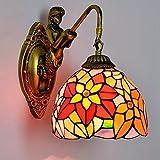 MIOMIO 8 pulgadas E27 Moda girasol tiffany Mediterráneo Sirena de la moda luz espejo rústica lámpara de pared lámparas de la cama