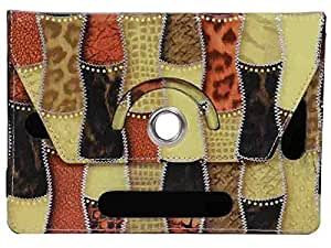 Designed Stylabs Tablet Book Flip Case Cover For Lenovo Ideatab A2107 (Universal)