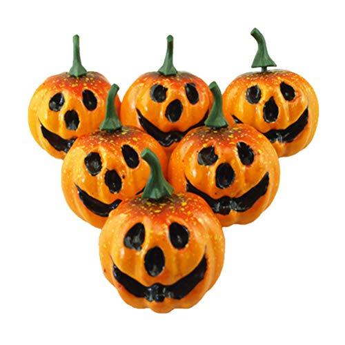 Amosfun Halloween Schaum Kürbis Halloween Home Bar Party Garten Dekoration Lieferungen Gefälschte Mini Kürbisse für Halloween Party Favors Dekorationen 6 STÜCKE